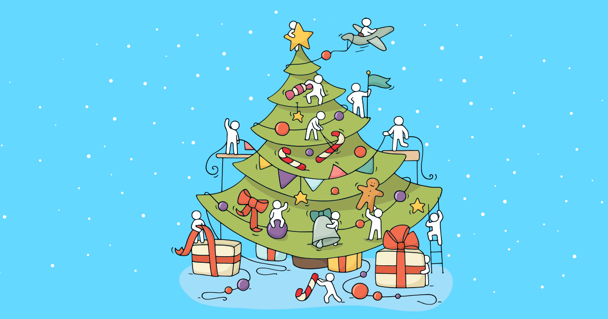 Ein geschmückter Weihnachtsbaum